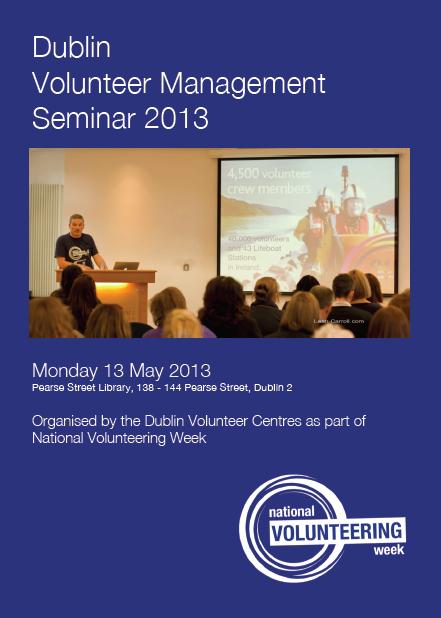Dublin Volunteer Management Seminar