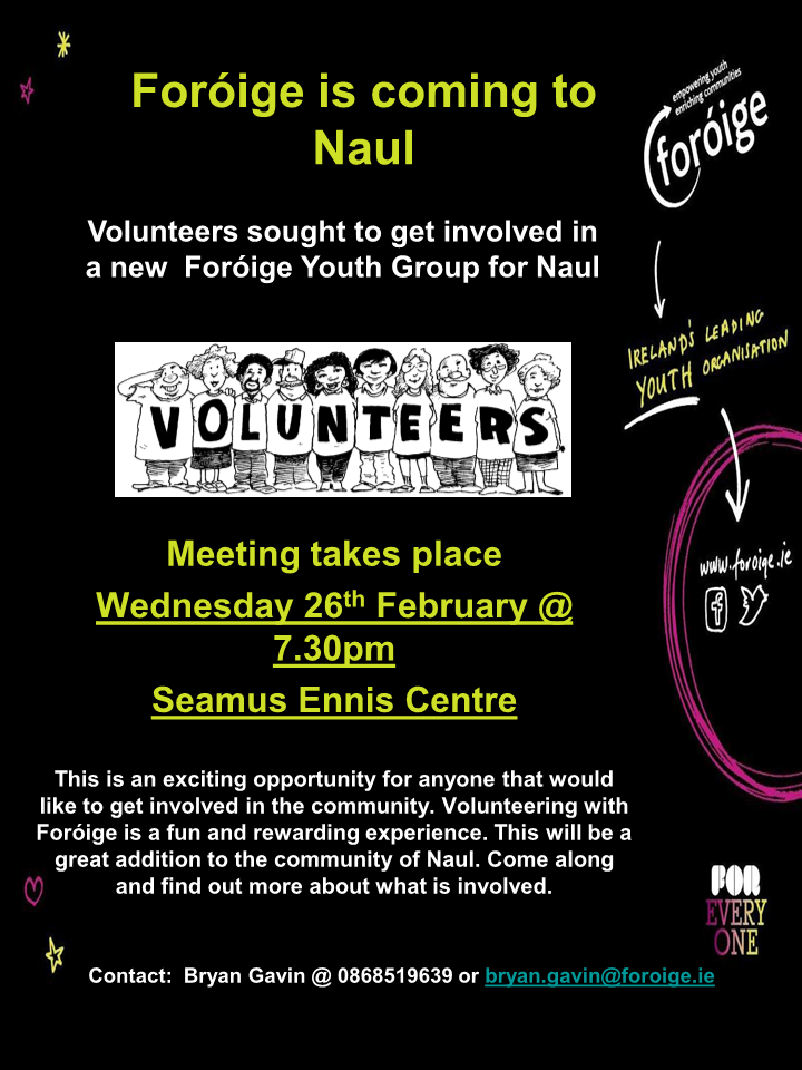 Foróige is coming to Naul