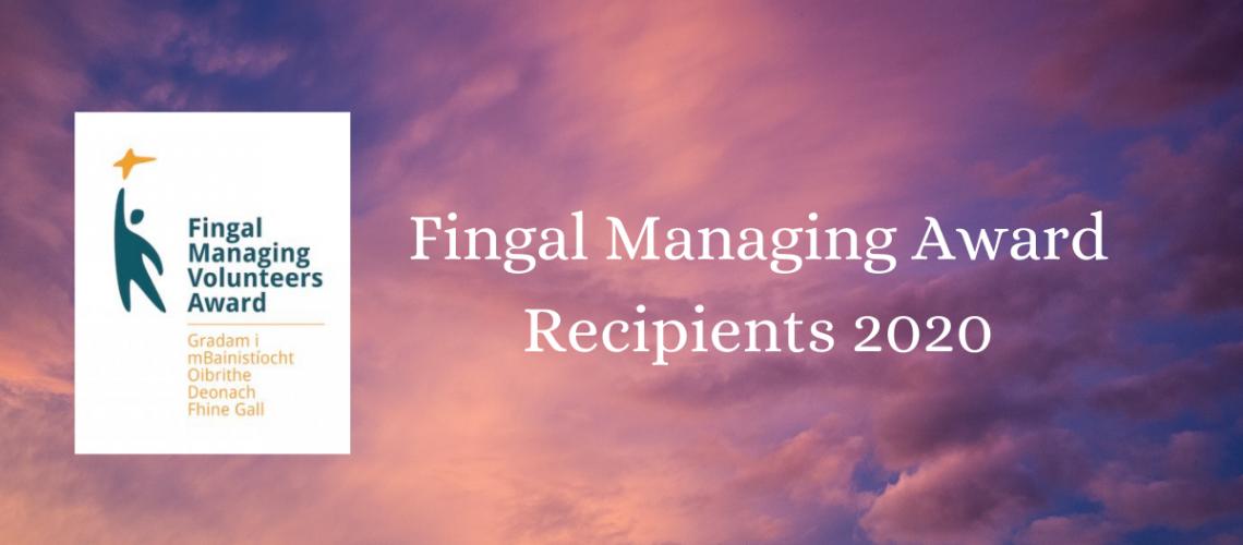 Fingal Managing Award Recipients 2020